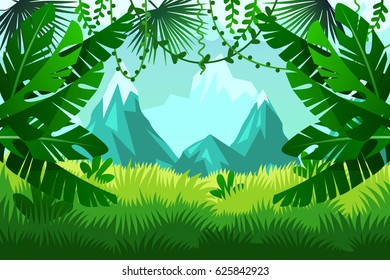 tropical forest. Vector landscape