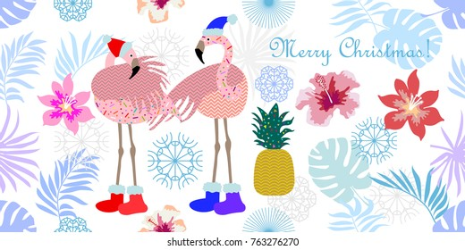 Christmas Flamingo Images, Stock Photos & Vectors | Shutterstock