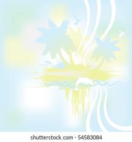 Tropical Island Banner