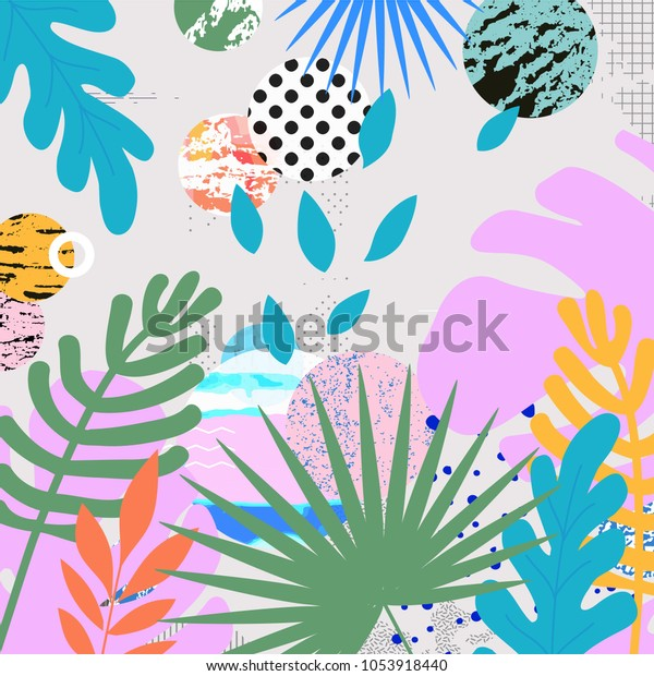 Tropical Jungle Leaves Background Tropical Poster Stock Vector Royalty Free 1053918440 You can also upload and share your favorite background jungle. https www shutterstock com image vector tropical jungle leaves background poster design 1053918440