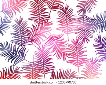 Tropical jungle leaves seamless pattern background. Tropical poster design. Exotic leaves art print. Wallpaper, fabric, textile, wrapping paper vector illustration design