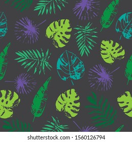 Tropical leafy repeating pattern design