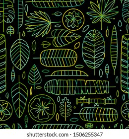 Tropical leaves background. Seamless pattern for your design