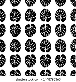 Tropical Leaves Concept - Scroll saw, Intarsia, T Shirt design, Wall sticker, Tattoo or Embossing art is in Seamless Pattern