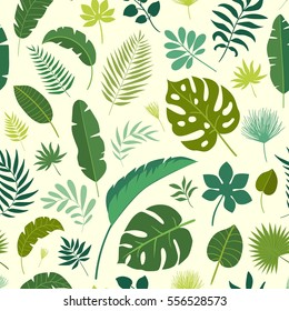 Tropical leaves pattern.