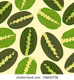 Tropical leaves, seamless pattern. Vector background.