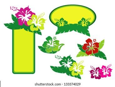 Tropical logo. Aloha Hawaii.