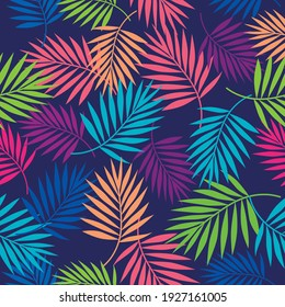 Tropical palm leaf illustration background