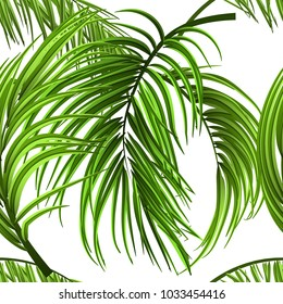 Tropical palm leaves, jungle leaves seamless vector floral seamless pattern background. Vector illustration. Eps 10