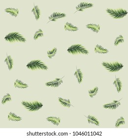 tropical palm leaves seamless pattern background. vector illustration. eps 10