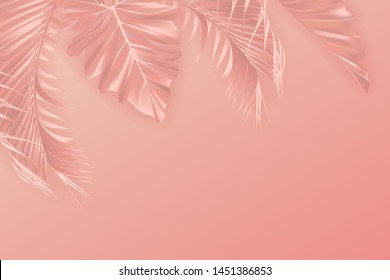 peach pastel backgrounds images stock photos vectors shutterstock https www shutterstock com image vector tropical paper palm leaves frame summer 1451386853