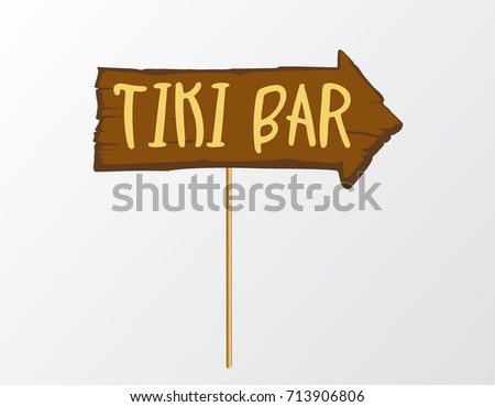 Tropical Party Photo Booth Prop On Stock Vector Royalty Free