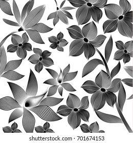 tropical pattern foliage with striped. beautiful in striped design