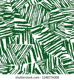 Tropical pattern, vector floral background. palm leaves seamless pattern, Abstact green leaves. Chaotic rough texture on white background.