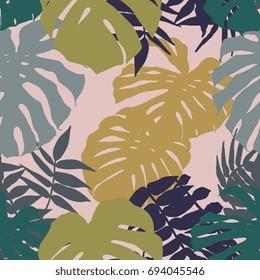 Tropical plant seamless pattern