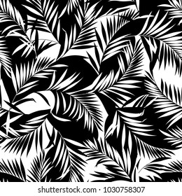 tropical plants pattern, I designed a tropical plant, This picture is seamless, It is a vector work
