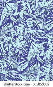 Tropical seamless pattern in vector