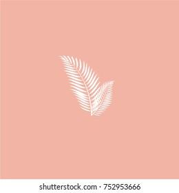 Tropical sign. Floral mark. lifestyle logo. Palm leaves illustration.