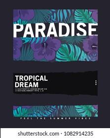 tropical style print design as vector