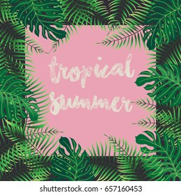 Tropical Summer - vector background eps10