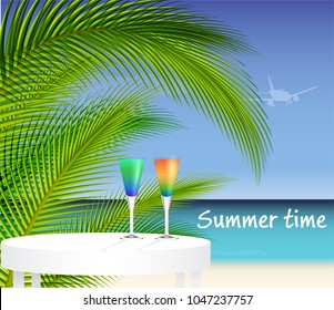 Tropical trip background