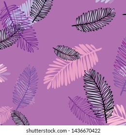 Tropical vector background for postcard, tree leaves, summer.