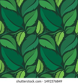 Tropical vector green leaves. Beautiful Color Compotition. Seamless pattern. Fashion, interior, wrapping, packaging suitable. Jungle print, exotic tropics wallpaper, fresh design, printing, textiles.