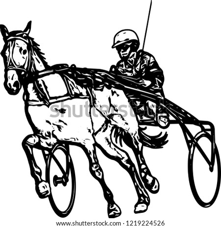 Trotter Harness Drawing Vector Stock Vector Royalty Free