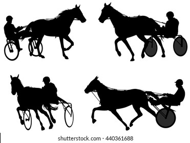 Trotters race silhouettes