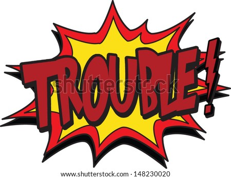 trouble stock vector royalty free 148230020 shutterstock