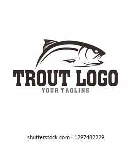 Trout Fishing logo tamplate