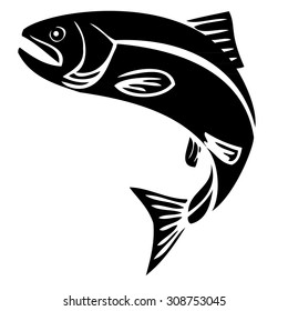 Trout Vector Illustration