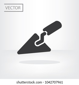 Trowel building icon vector