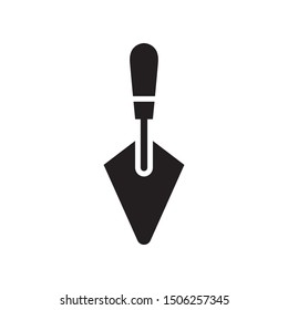 Trowel icon in trendy flat style design. Vector graphic illustration. Suitable for website design, logo, app, and ui. EPS 10.
