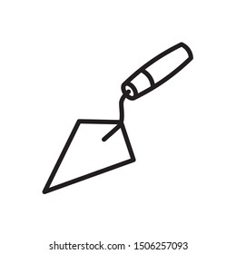 Trowel icon in trendy outline style design. Vector graphic illustration. Suitable for website design, logo, app, and ui. Editable vector stroke. EPS 10.