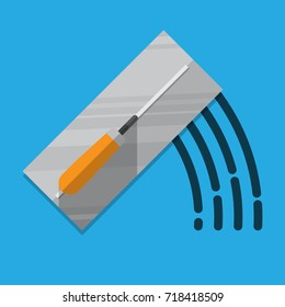 Trowel icon vector flat design.