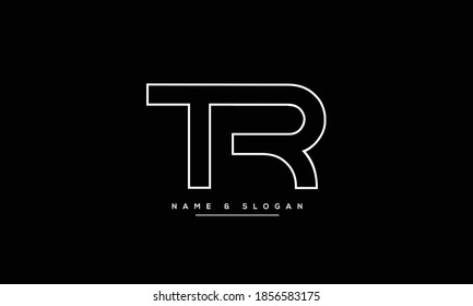 TR,RT ,T ,R  Abstract Letters Logo Monogram