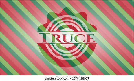 Truce christmas colors style badge.