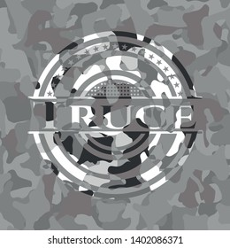 Truce on grey camouflage pattern