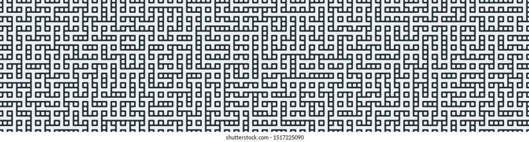 Truchet Random Pattern Generative Tile Art background illustration