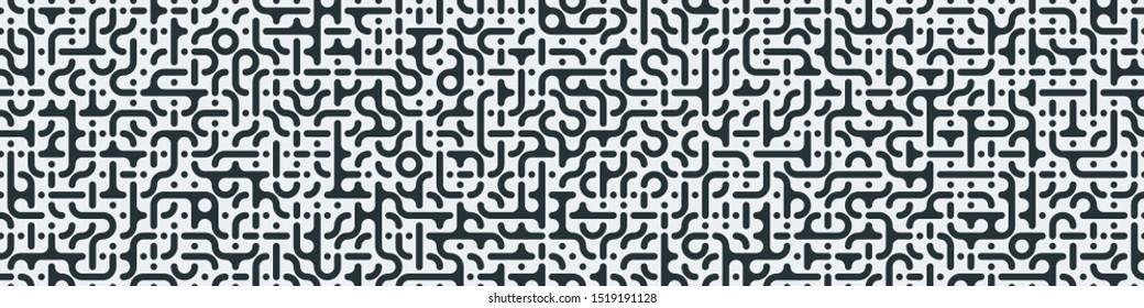 Truchet Random Muster Generative Kunsthintergrund