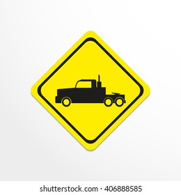 Truck. Black vector icon
