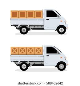 Truck Box vector