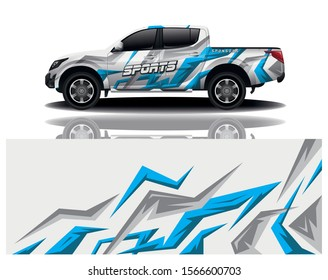 truck car decal wrap design vector