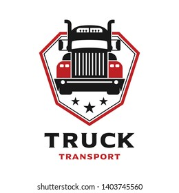 truck car shield logo design