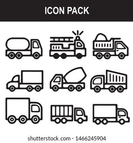 truck cargo industries vehicle icon