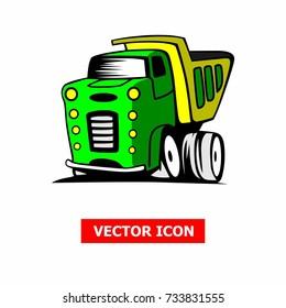 Truck cartoon art vector illustration