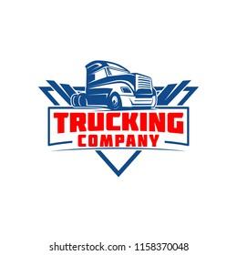 Truck Company Transportation Logo Illustration