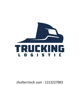 Truck Company Transportation Logo Illustration