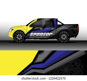 truck decal graphic wrap vector, background abstract line pattern